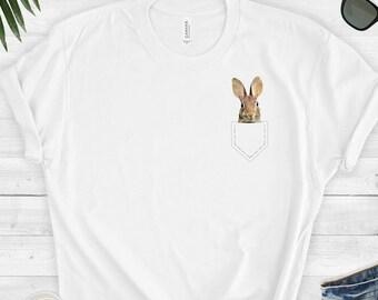 0e3a91991 Rabbit Shirt // Rabbit Pocket Shirt // Cute Rabbit Tee // Bunny Top // Bunny  Shirt // Rabbit Tee - Short-Sleeve Unisex T-Shirt