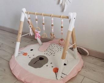 Wooden Awakening Arch /Customizable Wooden Awakening Portico/Babygym/Baby Portique/Baby Arch/Baby Arch/Hanging Toys/Montessori/Awakening Arch