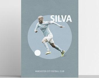 ecadacc29e5c David Silva Poster Football Art Print