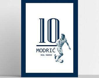 cb41d0efebb Luka Modric Poster Real Madrid Football Art Print