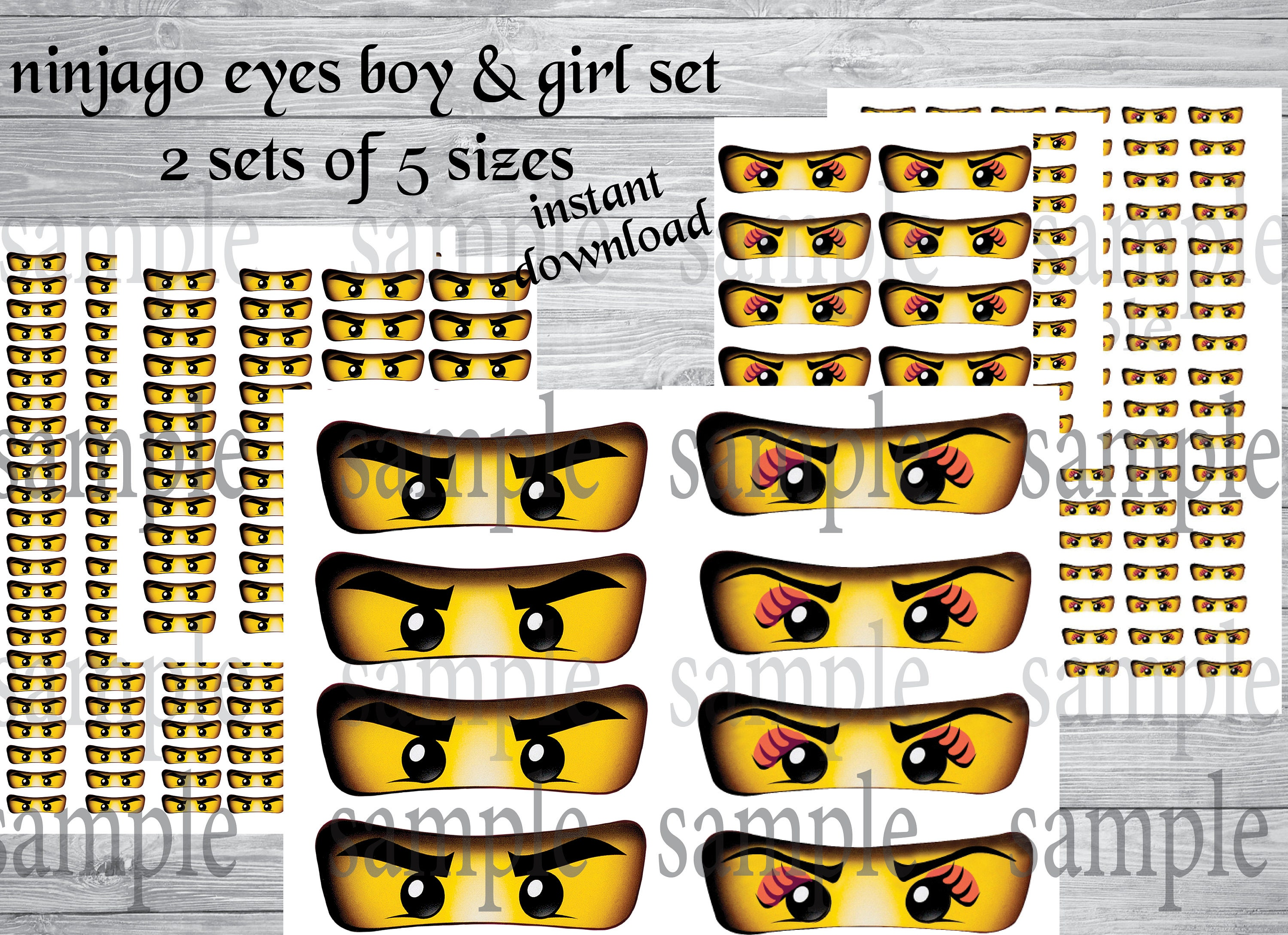 graphic relating to Printable Ninjago Eyes named Instantaneous DL- Ninjago eyes -for Balloon, Stickers, Lollipop, Want luggage, Cups, Ninjago video clip, - Ninjago birthday social gathering (2 SETs of 5 measurements)