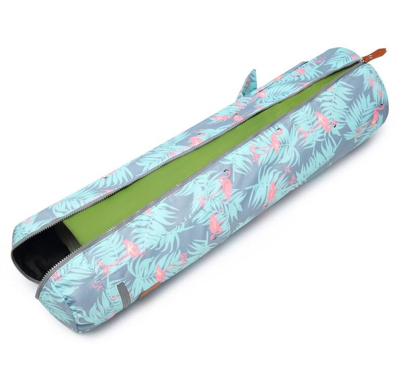 Girlfriend Gift Custom Yoga Bag Men and Women Gift Personalized Yoga Mat Bag Birthday Gift Personalized Gifts for Wedding Flamingo