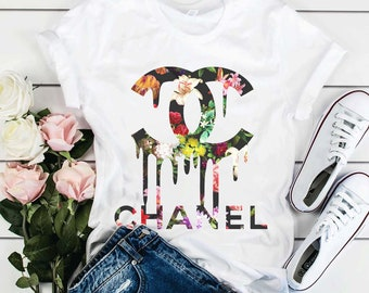 90ac1434 Chanel Floral Shirt Chanel t shirt Chanel Gift Chanel Inspired Gucci Shirt  Gucci Gift Inspired Birthday Print Louis Vuitton Versace Mom Mama