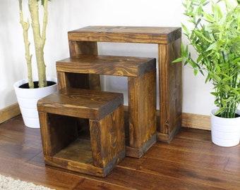 921beddeddf14 Rustic Hythe Cube Nest of Tables