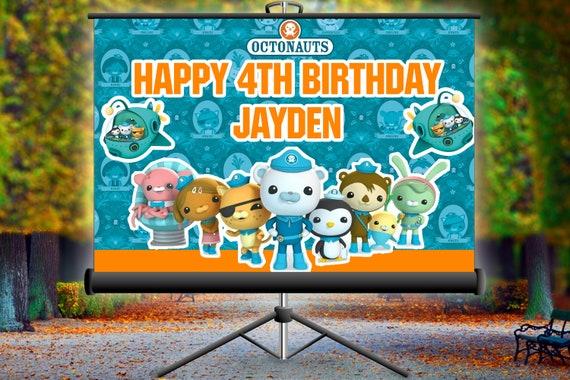 Octanauts Birthday Background, Octanauts Birthday Banner, Octanauts Decor  Party, Octanauts Birthday Background, Boy Birthday Party