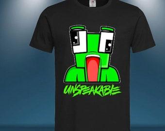 Childrens Unspeakable Moosecraft Sharkboy Tshirt Youtube gaming Kids Best Gifts