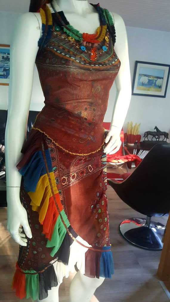 Vintage Jean Paul Gaultier dress sun mesh tattoo p