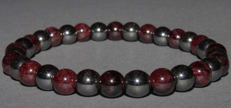 Hematite and Garnet bracelet