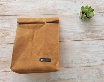 New Living Canvas Lunch Bag, 100% cotton, Eco Product, Made Using Fully Biodegradable Natural Material