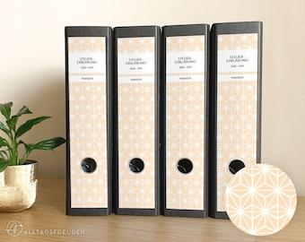 Ordnerrücken Klebe-Etiketten Druckvorlage   Labels Printable   Muster: Sterne   puder, pastell   Selbstausdrucken   Schilder   Aufkleber