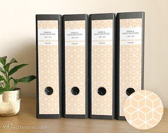 Ordnerrücken Klebe-Etiketten Druckvorlage   Labels Printable   Muster: Rauten   puder, pastell   Selbstausdrucken   Schilder   Aufkleber