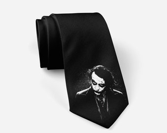 Batman Dark Night Joker Necktie Silk Tie Halloween Costume Cosplay Men/'s Tie
