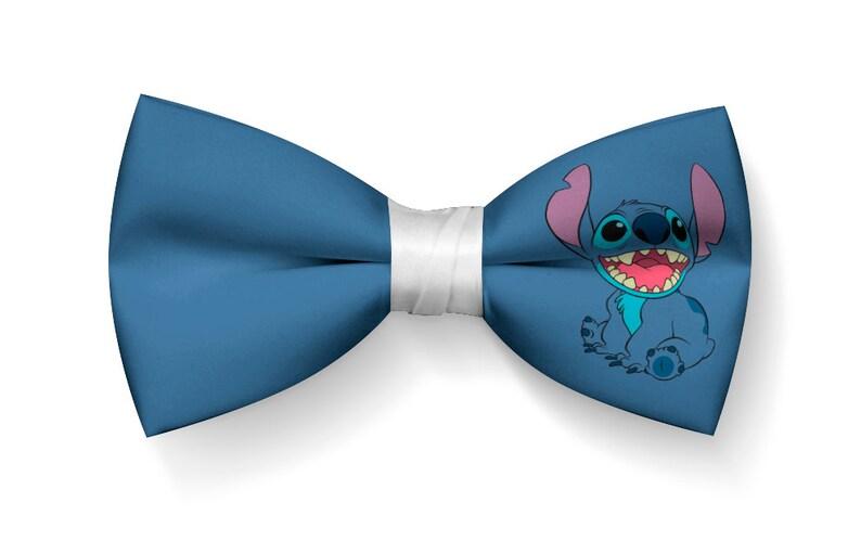 Stitch Bow Tie Lilo Stitch Bowtie Cartoon Bowtie Etsy