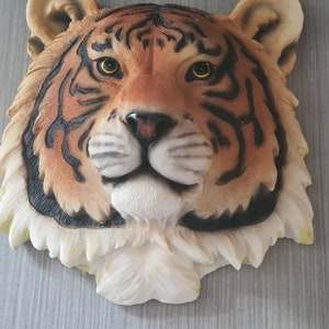 Latex Moulds for making this stunning Lion head 3D style wall plaque