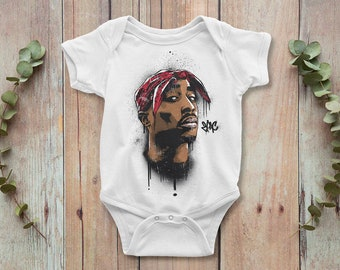 d6f4f9e1c 2pac baby onesie - Tupac baby bodysuit, hip-hop baby outfit
