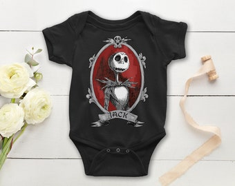434c7636c Jack Skellington Baby Onepiece - Nightmare Before Christmas, Tim Burton Baby  Bodysuit - Funny Baby Gift - Baby Outfit