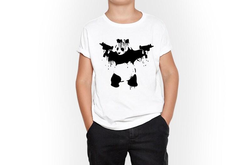 Child T Shirt Kids Tshirt Cruel Panda Graphic Kid T-Shirt Unisex Kids Clothing Funny Child Tee Funny Toodlers Tee