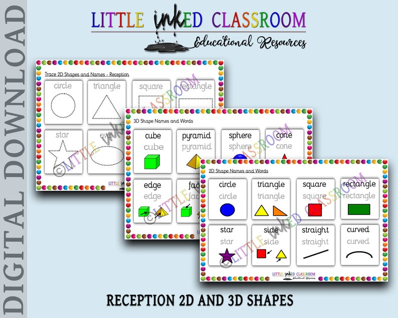 graphic about Printable 3d Shapes identified as Reception 2D and 3D designs/condition names, Printable useful device, Maths,Magic formula Level 1/2, Basic, electronic down load, homeschool