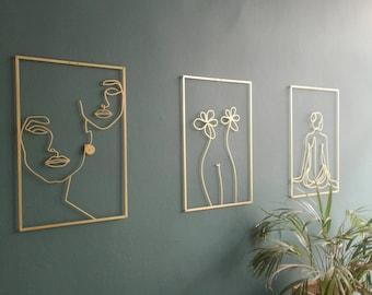 Wall Art Abstract Wall Art Woman Wall Art Minimalist Wall Decor Bedroom Wall art Living Wall Art
