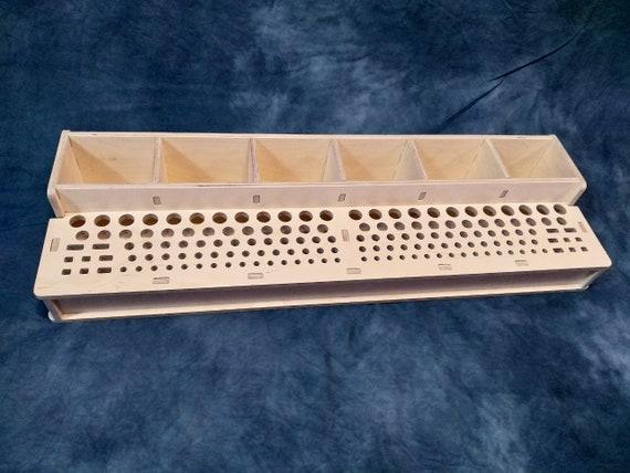 1x Ruler Rack Large 5 Slots Beech Wood Sewing Craft Tool Hobby Art UK