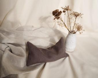 Lavender Eye Pillow - 100% Linen, Cotton, Organic Flax Seed & Lavender, Brown, Yoga, Relaxation, Meditation, Eye Mask