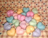 30 Soy DIMPLE HEART, wax melting tarts, handmade, choice of scent, bulk tarts, List O-R, FREE shipping