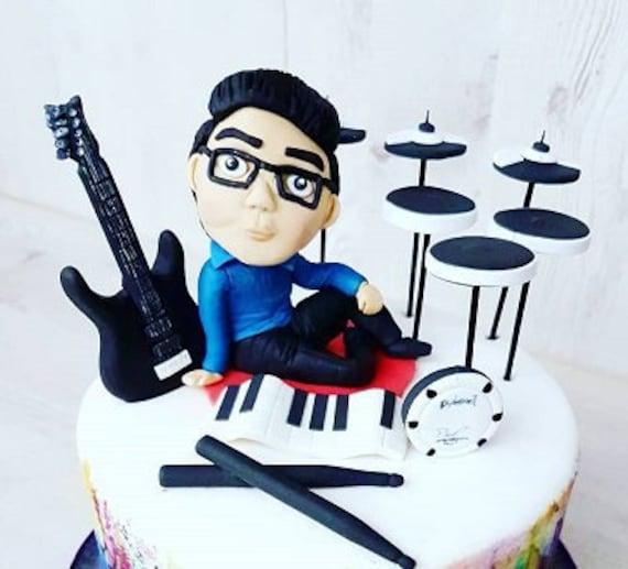 Groovy Fondant Keepsake Polymer Clay Digital Electric Drum Guitar Etsy Funny Birthday Cards Online Bapapcheapnameinfo