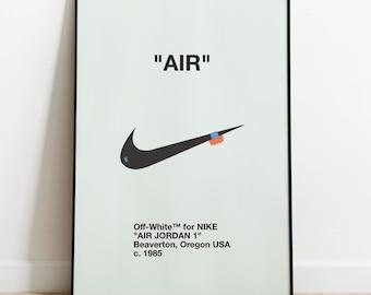 size 40 9db80 94bad Nike Air Jordan I 1 Retro High OG x Off-White Virgil Abloh Chicago Sneaker  Fashion Art Digital Printing Poster Picture A1 B2 A2 A3