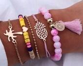 Multi layered bracelet- Women s fashion-bracelet- boho bracelet-chic bracelet-multi stand bracelet- charm bracelet-birthday-gifts for her