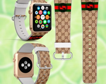167ca5a1587 Inspired by Gucci Apple Watch band Leather Gucci band iWatch 42mm strap  Apple Watch 44mm iWatch band 38mm 40mm Gucci strap Gucci Monogram GG