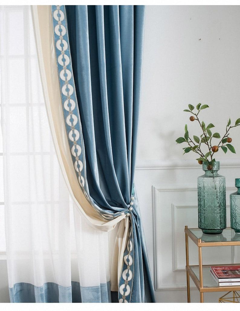 Paar Luxus samt Fenster Vorhang Draperis Schlafzimmer | Etsy