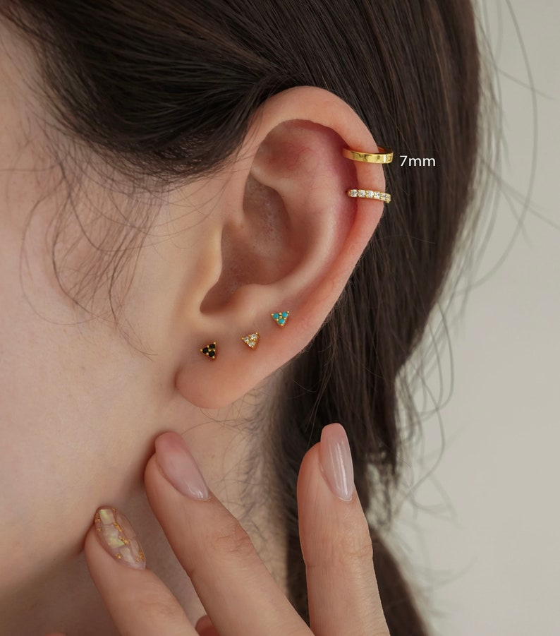 Tiny gold hoop Gold hoops Sterling Silver huggie Chunky hoop earrings Silver hoop huggie hoops earring Square Edge hoop earrings