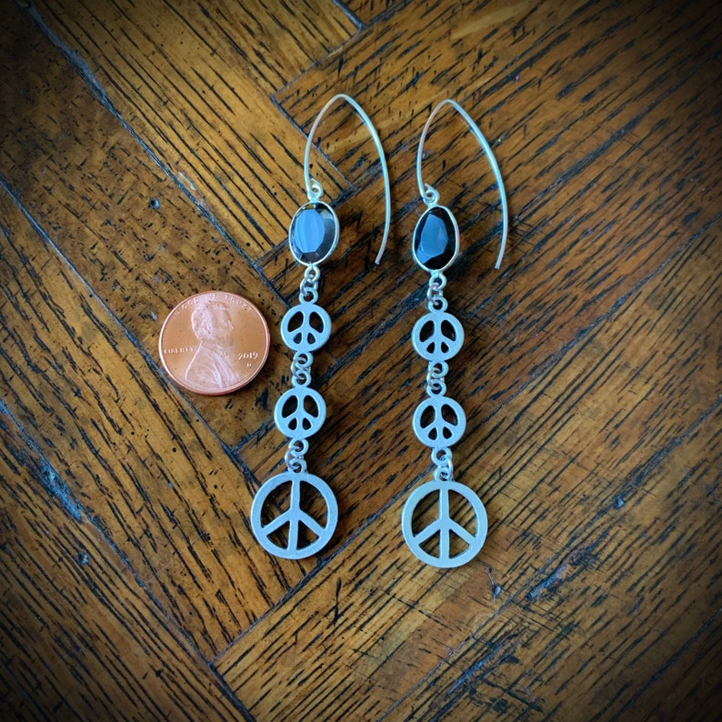 peace signs and smoky topaz