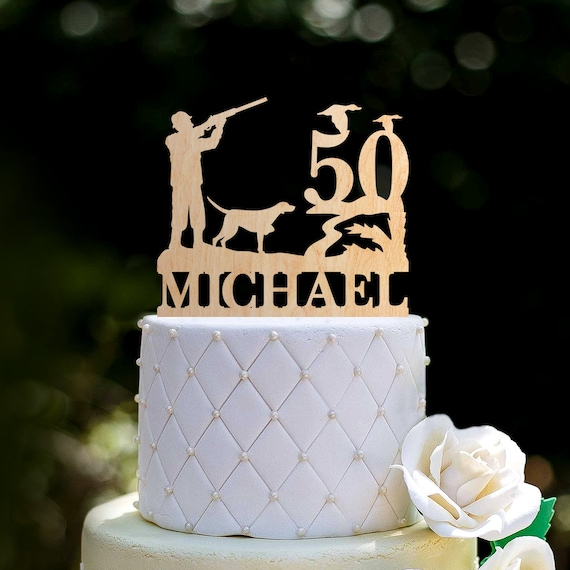 Miraculous Duck Hunting Birthday Cake Topper50Th Birthday Party Hunting Etsy Personalised Birthday Cards Epsylily Jamesorg