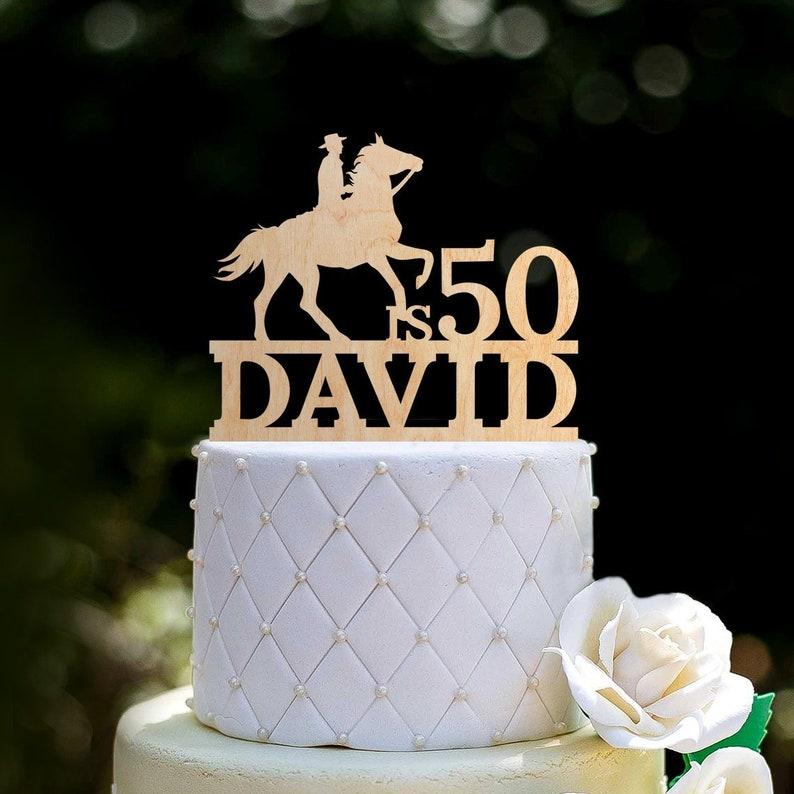 Cowboy cake topper 50th birthday,Cowboy birthday cake topper,birthday 50 cake topper,Cowboy topper,50th cowboy cake topper birthday,0136