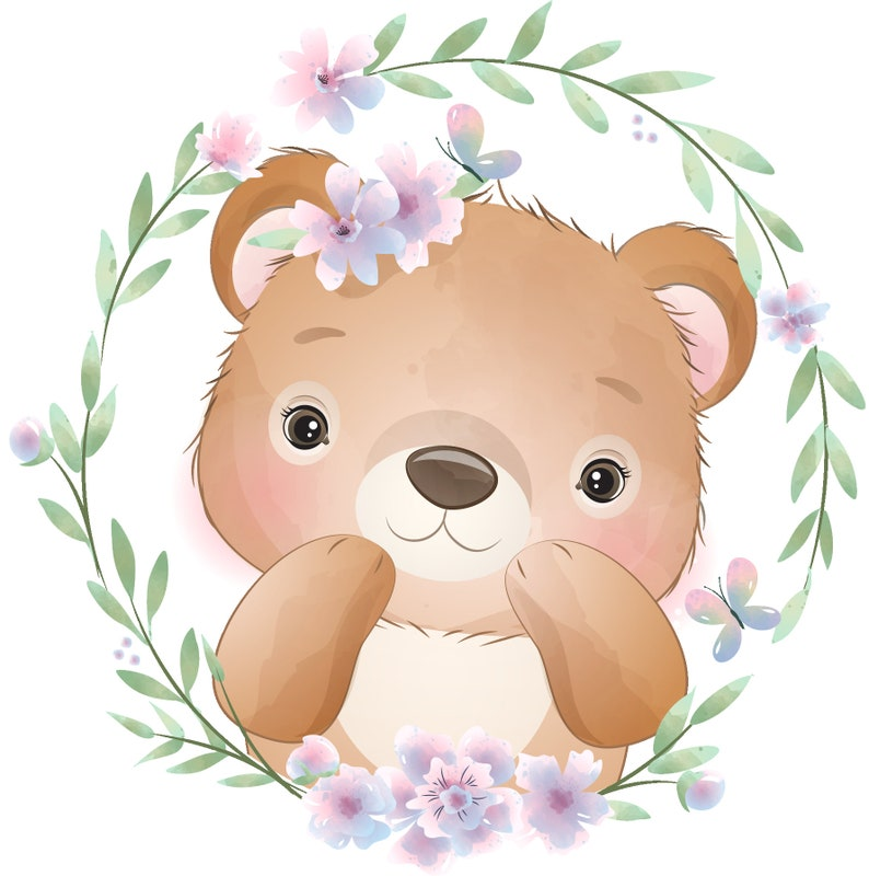 batch of 3 fabric coupons illustrated teddy bears for children