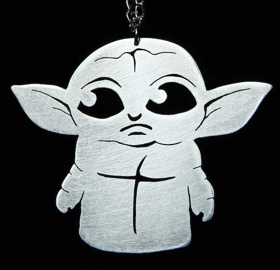 AKTAP Star War Inspired Jewelry Baby Yoda Necklace Cartoon Cosplay Gift for Baby Yoda Fans