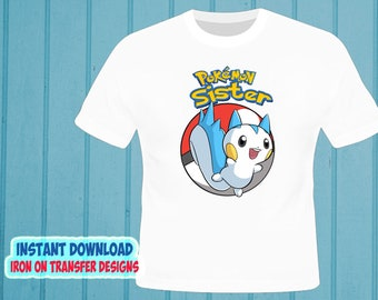 67172199 INSTANT Download - Pokemon - SISTER - Digital image - Iron on transfer t- Shirt - Pokemon Iron On Transfer - Decal - High Resolution