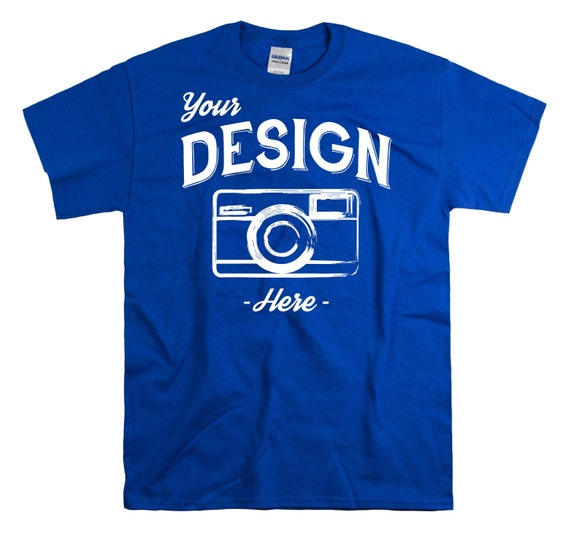 Gildan 2000 Royal Blue Tshirt Mock Up Gildan Blue Shirt Flat Etsy
