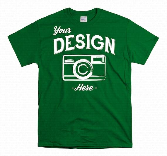 5000 TShirt Mockup 5000 Gildan Irish Green MockUp Gildan Shirt Mock up Green Shirt Mockup Gildan Blank Shirt MockUp 5000 Shirt Mock-Up