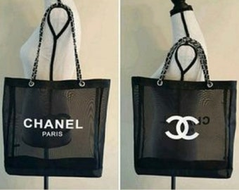 00691233a2a9 CHANEL Gold Chain VIP Gift Mesh Tote. BEST Wedding, Baby Bridesmaids Gift!