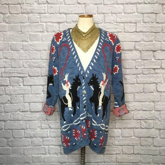 Vintage 90's Rodeo Western Wear Oversized Sweater