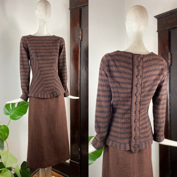 1950/'s Thunderbird Fashions Two Piece Set Skirt and Top
