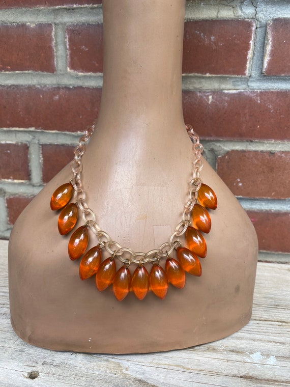 Vintage 1940's Bakelite and Celluloid Chain Neckla