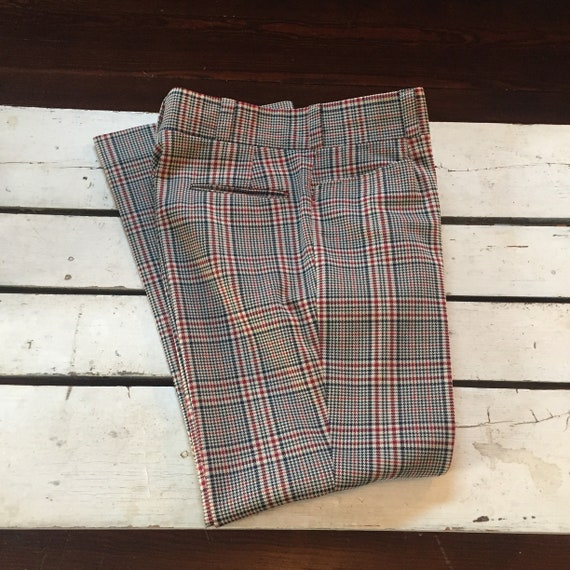 Vintage 1970's Men's Plaid Pants/Venture Label