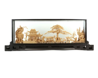 Large Cork Art Chinese Diorama (56 cm!)