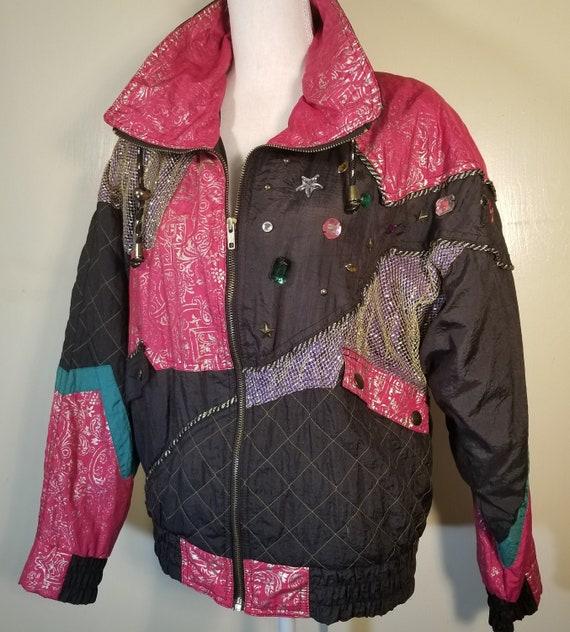 Nylon Bomber Jacket With Coat Tails