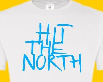 Ladies Hit The North tee tshirt T shirt The Fall music artist Mark E Smith band group inspired unisex men's gift joke Clem Wear UK tv