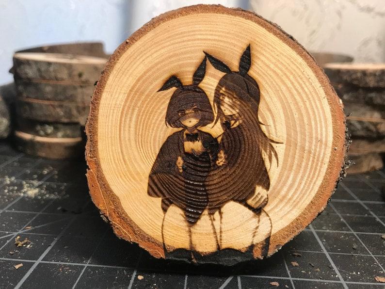Wood Cookie Magnet Kitchen Locker Display For Bedroom Bunny Girls Ecchi Magnet