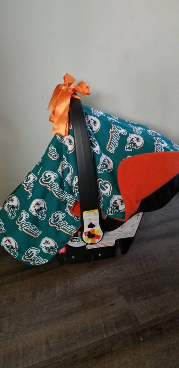 Swell Miami Dolphins Carseat Canopy Cover Pabps2019 Chair Design Images Pabps2019Com